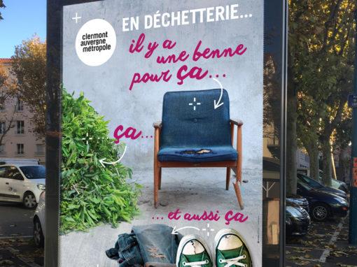 Clermont Auvergne Métropole – Campagne pour les déchetteries