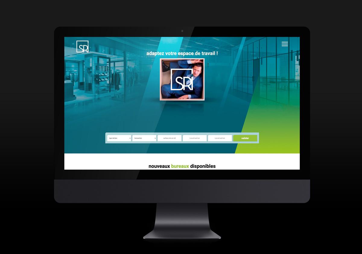 Vice Versa page d'accueil du site SRI sur un ordinateur